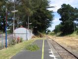Leongatha / Railway station / View south along railway station platform