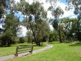 Lilydale / Eyrefield Park, Hardy Street / Southerly view along pathway beside Olinda Creek