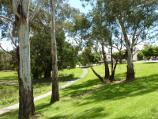 Lilydale / Eyrefield Park, Hardy Street / View south through park from Hardy St near Olinda Creek