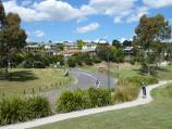 Lilydale / Swansea Road / View south along Swansea Rd towards Lillydale Lake Park main entrance