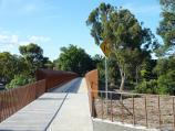 Lilydale / Lilydale to Warburton Rail Trail / View south-west along Maroondah Hwy towards rail trail bridge at Queen Rd