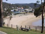 Lorne / Coastal views at southern end of main beach / View north along coast from foreshore reserve near Beal St
