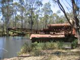 Maldon / Historic dredge and dragline, Bendigo - Maldon Road / Dredging on the Porcupine Creek