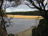 Mallacoota / Recreation Reserve, south of Allan Drive / View south-east towards beach at Develings Inlet