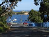 Marlo / Jetty, boat ramp and Foreshore Road / View along Foreshore Rd towards jetty and boat ramp from Argyle Pde