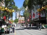 Melbourne / Bourke Street Mall / View west towards Myer and GPO at Elizabeth St