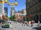 Melbourne / Bourke Street Mall / View west towards Elizabeth St