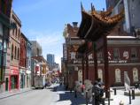 Melbourne / Chinatown, Little Bourke Street / View west along Little Bourke St at Cohen Place Plaza