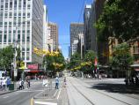Melbourne / Collins Street / View west along Collins St at Swanston St