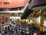 Melbourne / Melbourne Central Shopping Centre and neighbouring department stores / Shot Tower Square