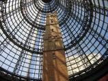 Melbourne / Melbourne Central Shopping Centre and neighbouring department stores / View to top of Shot Tower and glass roof