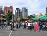 Melbourne / Queen Victoria Market / View of market stalls, south along Queen St towards Therry St