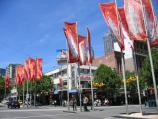 Melbourne / Swanston Street / View east along Lonsdale St at Swanston St