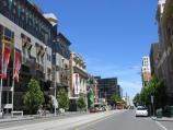 Melbourne / Swanston Street / View south along Swanston St at A'Beckett St towards RMIT University