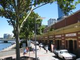 Melbourne / Yarra River at Banana Alley Wharf / View west along Banana Alley