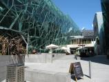 Melbourne / Federation Square / View from Flinders St towards Atrium and beer garden
