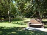 Melbourne / Kings Domain / Marble seat in Rotary Park of Remembrance, Birdwood Av at Domain Rd