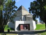 Melbourne / Shrine of Remembrance, St Kilda Road / Entrance to Visitors Centre under Shrine