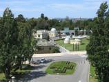 Melbourne / Shrine of Remembrance, St Kilda Road / View from Shrine balcony east towards Botanic Gardens Visitor Centre