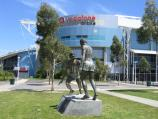 Melbourne / Melbourne Park sporting venues, north side of Olympic Boulevard / Sportsmanship monument, Hisense Arena