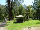 Moe / Edward Hunter Heritage Bush Reserve, Coalville Road / Picnic shelter near lake