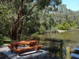 Moe / Edward Hunter Heritage Bush Reserve, Coalville Road / Table overlooking lake and boardwalk