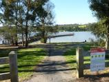 Moe / Turras Beach, west end of South Shore Road at Lake Narracan / Entrance to foreshore reserve at South Shore Rd