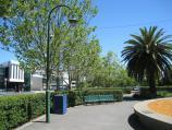 Moonee Ponds / Mount Alexander Road / View north-west along Mt Alexander Rd from gardens in centre opposite Clocktower Centre