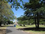 Moonee Ponds / Queens Park / Pathway south through park towards monument at corner of Mt Alexander Rd and Kellaway Av
