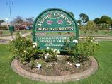 Morwell / Morwell Centenary Rose Garden, Maryvale Crescent and Commercial Road / Rose garden sign fronting Commercial Rd