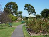 Morwell / Morwell Centenary Rose Garden, Maryvale Crescent and Commercial Road / Pathway through garden towards rotunda