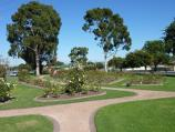Morwell / Morwell Centenary Rose Garden, Maryvale Crescent and Commercial Road / South-westerly view through rose garden between Avondale Rd and Maryvale Cr