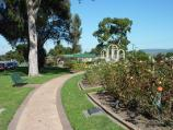 Morwell / Morwell Centenary Rose Garden, Maryvale Crescent and Commercial Road / View through rose garden towards southern end