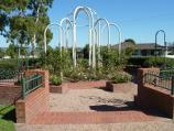 Morwell / Morwell Centenary Rose Garden, Maryvale Crescent and Commercial Road / Display at southern end of rose garden