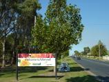 Morwell / Around Morwell / Morwell town sign, view east along Commercial Rd at Ryan St