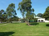 Morwell / Morwell Civic Gardens and Kernot Lake, Princes Drive / View across lawns towards Waratah Training Restaurant