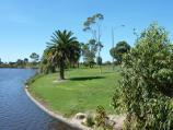 Morwell / Morwell Civic Gardens and Kernot Lake, Princes Drive / Easterly view along Kernot Lake from footbridge