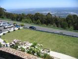 Mount Dandenong / Mount Dandenong Observatory - lookout and cafe/restaurant / View west across car park from viewing decks