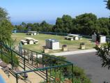 Mount Dandenong / Mount Dandenong Observatory - lookout and cafe/restaurant / BBQ areas in front of cafe