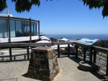 Mount Dandenong / Mount Dandenong Observatory - lookout and cafe/restaurant / View of Sky High Restaurant and tables on deck outside cafe