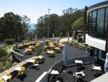 Mount Dandenong / Mount Dandenong Observatory - lookout and cafe/restaurant / Tables outside cafe