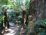 Mount Dandenong / William Ricketts Sanctuary, Mt Dandenong Tourist Rd / Sculpture along path through ferns
