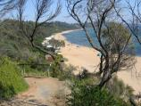 Mount Eliza / Moondah Beach area, end of Kunyung Road / View south along Moondah Beach from path down to beach