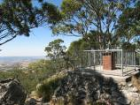 Mount Macedon / Camels Hump, Cameron Drive / View towards lookout platform at summit