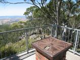 Mount Macedon / Camels Hump, Cameron Drive / North-easterly view at lookout platform at summit