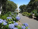 Mount Macedon / Memorial Cross, end of Cameron Drive / View south along path, approaching memorial cross