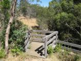 Mount Macedon / Stanley Park, Salisbury Road / Viewing platform at top of waterfall