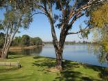Nagambie / River Street Reserve, end of River Street / View south across lake