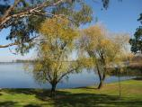 Nagambie / River Street Reserve, end of River Street / View west across lake