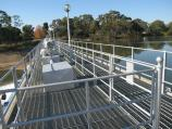 Nagambie / Goulburn Weir and Recreation Area / View east along walkway above weir